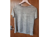 gold glittery shirt size M only worn 3x metal look