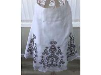 White linen skirt, size 12
