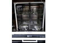 NEFF INTERGRATED BUILT-IN DISHWASHER, EXCELLENT CONDITION, DELIVERY