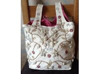 Beach, Festival Bag Decorated with Beads & Shells by Linda Barker NEW