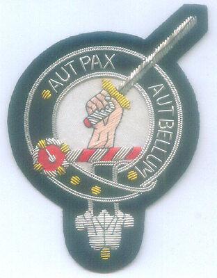 Royal UK Scottish Scotland Clan Gunn Crest Heraldry Family Name Arms COA Patch G