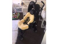 Mini stroller and sheep skin liner
