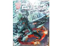 2000ad Judge Dredd signed comic