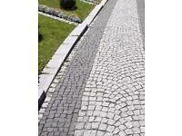 Natural Black Granite SWEDISH Cobbles / Setts 100 mm x100 mm x50 mm ( 1 tonne )