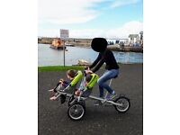 Double bike stroller (Taga type) for 1 or 2 children 6mths to 5years