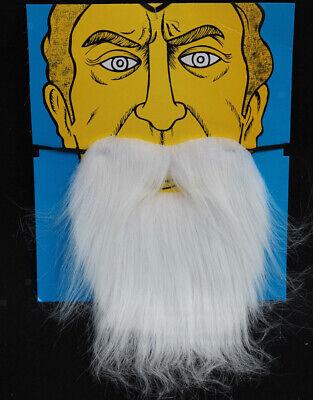 Weißer Weihnachtsmann Zwergen-Bart Holzfäller Bart Rauschebart - Holzfäller Bart Kostüm