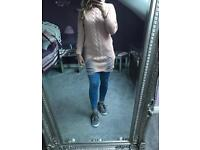 BNWT pink distressed jumper sizes 8-14
