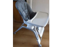 Oxo Tot Seedling high chair in 'Graphite' colour. Ex Condition. Designer high chair.
