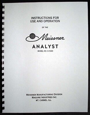 Meissner Model 9-1040 Analyst Signal Tracer Manual
