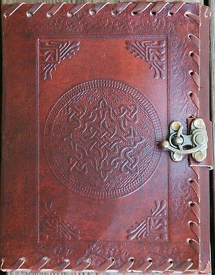 Handmade Celtic Tooled Leather Blank Journal Diary Sketch Notebook Book (566-WL) Tooled Leather Notebook