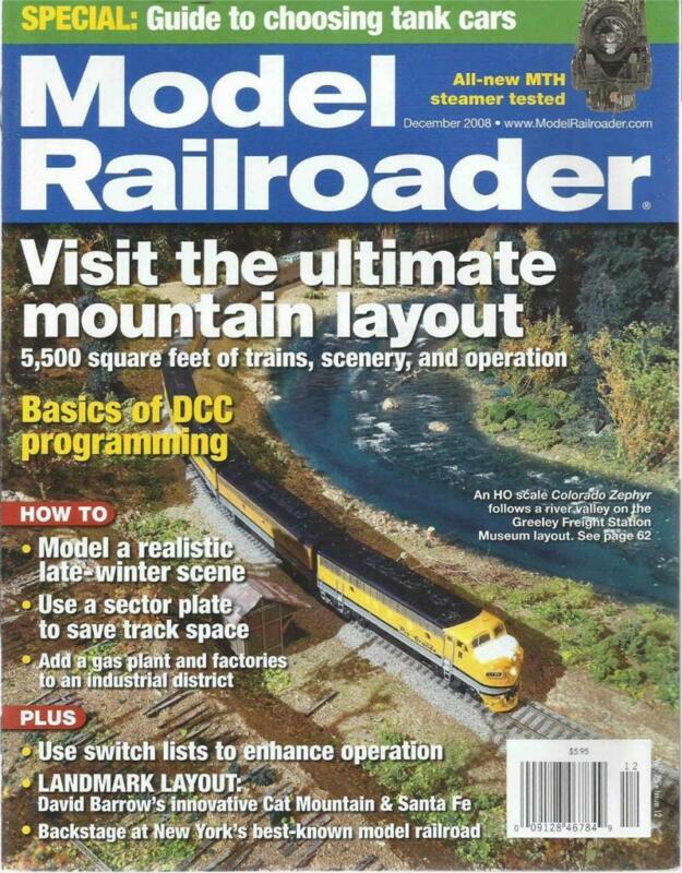 Model Railroader December 2008 Late Winter & Tank Car Tips Waterbury Gas Works