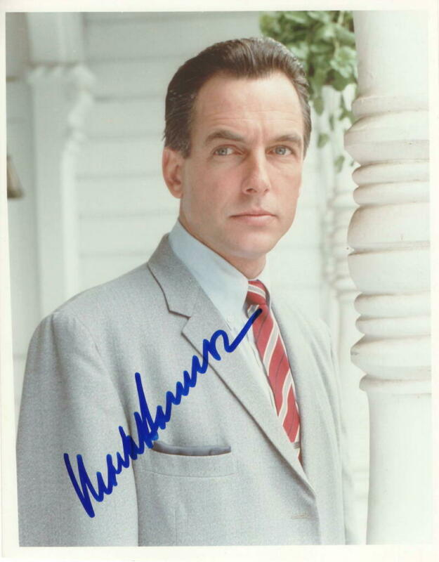 MARK HARMON SIGNED AUTOGRAPH 8X10 PHOTO - VERY YOUNG NCIS GIBBS, ST. ELSEWHERE