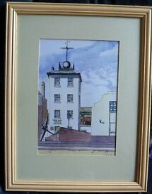 Time ball Tower Museum Deal Kent Painting / print