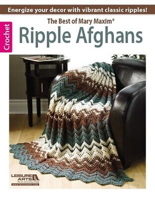 Crochet Pattern Book BEST of Mary Maxim RIPPLE AFGHANS ~ 10