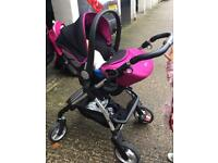 Silver Cross Baby Buggy + Car seat + Bag