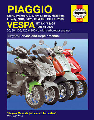 Haynes Manual 3492 - Piaggio & Vespa Scooters (91-09) workshop, service & repair