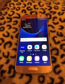 Galaxy s7 Rose Gold 32GB Unlocked