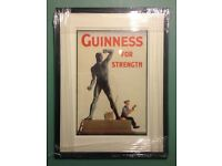 GUINNESS Original Art Deco A3 Advertising Poster c1932 - Professional Mount & Framed