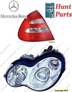 Mercedes Benz Head Lamp Tail Headlight Headlamp light Fog Mirror Phare Avant Arrière Antibrouillard Lumière Brouillard