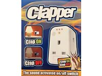 CLAPPER - Sound Activated On/OFF Switch (Christmas tree light, night light, security light, etc)