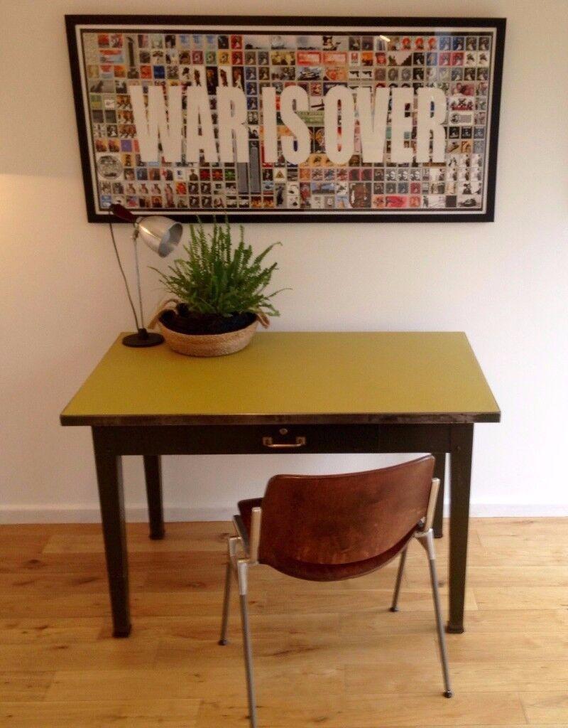 Vintage Metal Desk Mid Century Modern Retro Steel Table Ercol G Plan