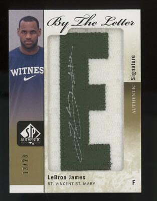 2011 SP Authentic By the Letter LeBron James 13/23 Auto Patch Jersey
