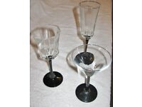 Set of 18 wine / champagne / cocktail glasses in 3 different styles