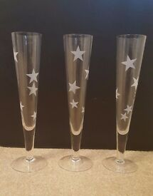 Champagne Flutes/Glasses (Set of 3)