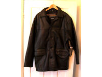 Ben Sherman Black Leather Gents Coat