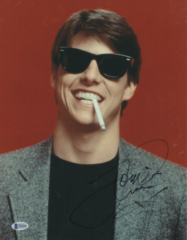 TOM CRUISE SIGNED 11X14 PHOTO RISKY BUSINESS AUTHENTIC AUTOGRAPH BECKETT COA B