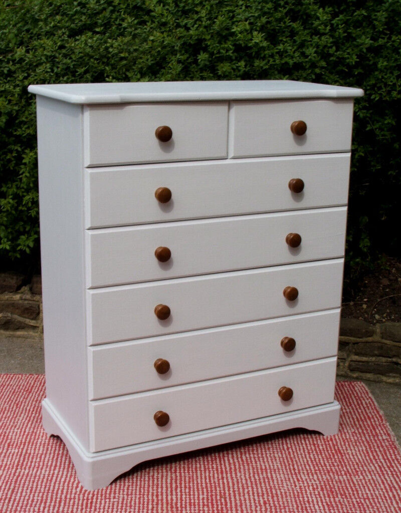 new arrival fb3ec a5717 Solid Pine - Painted - Tallboy - Chest Of Drawers - 2 Over 5 - Horfield |  in Horfield, Bristol | Gumtree