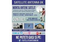 Antena disch satellite and terestrial mounting