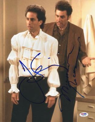 JERRY SEINFELD MICHAEL RICHARDS SIGNED 11X14 PHOTO AUTOGRAPH PUFFY SHIRT PSA LOA - Jerry Seinfeld Puffy Shirt