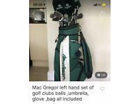 MacGregor Left Handed Set of Golf Clubs