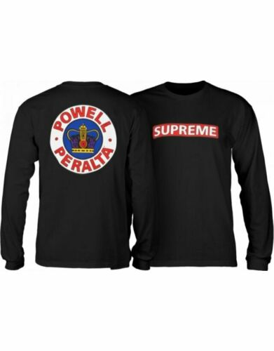 Powell Peralta Supreme Crown Long Sleeve Skateboard Shirt Medium Men