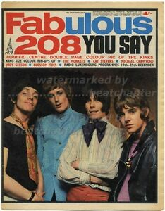 FABULOUS 208 23/12/1967 Kinks Herd Blossom Toes Cat Stevens Monkees Judy Geeson