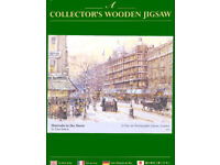 WENTWORTH WHIMSY WOODEN JIGSAW- HARRODS IN THE SNOW- 250 pieces
