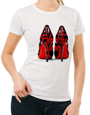 Cardi B Bloody Shoes Womens T Shirt Hip Hop Bodak Yellow Money Moves