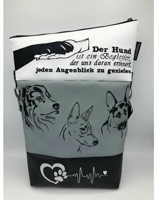 Handtasche Foldover (Hunde) *handmade *bestickt Umhängetasche