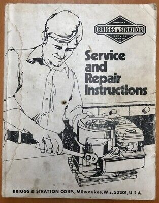 1975 Briggs Stratton Service And Repair Instructions Milwaukee Wi