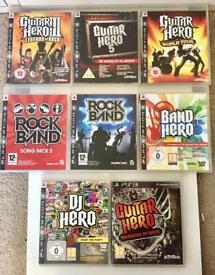 PS3 Guitar Hero, Rock Band game bundle