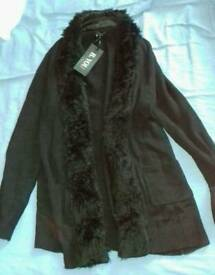 Ladies black cardigan new size 12