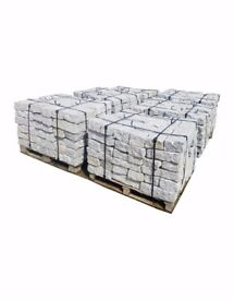 NATURAL WALLING STONE – SILVER / GREY GRANITE - 40x20x10 cm
