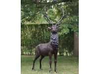 PAIR OF BRONZE 7FT STAGS