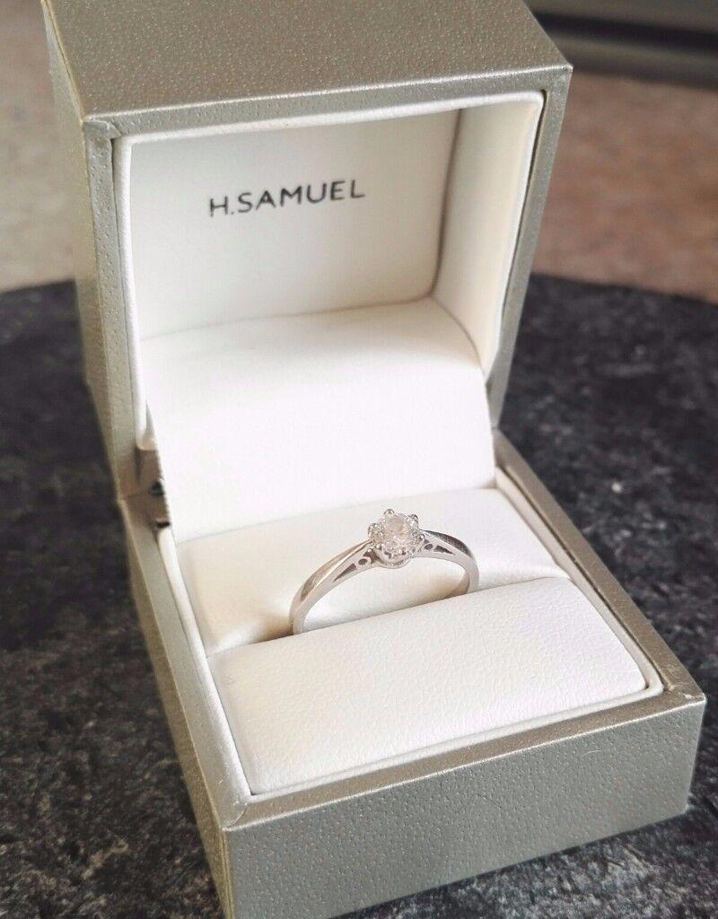 .33 carot diamond white gold ring