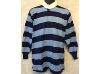 """Mens Stripe Long Sleeve Rugby Jersey Polo Shirt Top Size 40"""" (#4846)"""