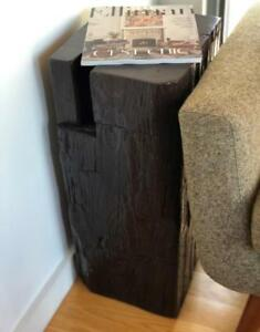 Mennonites made reclaimed barn beam side tables - Free Shipping