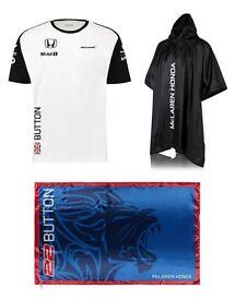 McLaren Honda Jenson Button T-Shirt / Flag / Poncho bundle