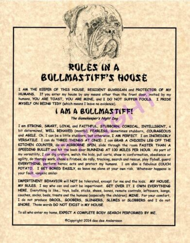 Rules In A Bullmastiff