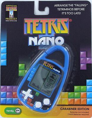 TETRIS Nano Handheld Electronic GAME Clip-on Carabiner Basic Fun 80'sTetriminos
